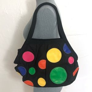 Chateau shoulder bag with polka dots